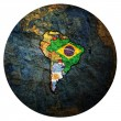 Flags of member countries of Mercosur officially c...