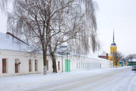 Chute de neige dans la ville de Kolomna. Monastère Staro-Troitsky Novo-Golutvin
