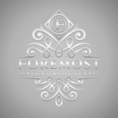 Letter F Logo - Classic & Luxurious Silver Embossed Style Logo
