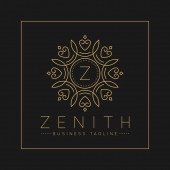 Letter Z Logo with classic and Luxurious line art ornament style vector