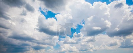 Photo for Cumulus Clouds Against Blue Sky At Summer Day - Royalty Free Image