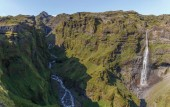 Mulagljufur Canyon and Waterfall in Iceland