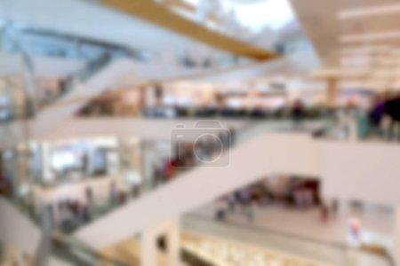 Blurred background shopping center