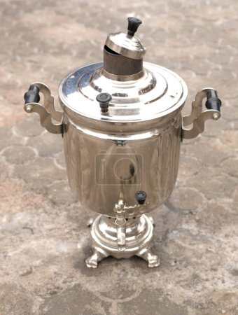 Russian samovar, close up