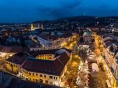 """Постер, картина, фотообои """"Аэрофотосъемка Адвента в Печ, Венгрия"""""""