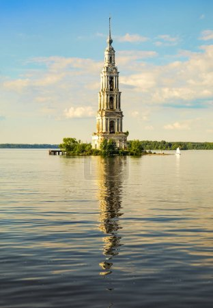 Flooded bell tower of St. Nicholas Cathedral in Ka...
