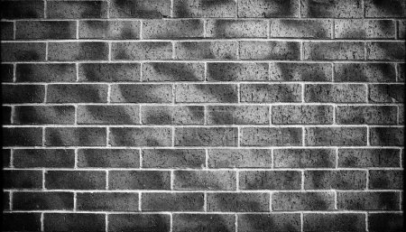 Photo for Black and white brick wall texture. Architectural background and texture. - Royalty Free Image
