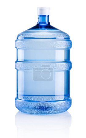 Big plastic bottle potable water isolated on a whi...