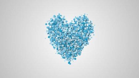 Photo pour Carte d'illustration de voeux de Saint-Valentin, forme de coeur de nombreuses particules - image libre de droit