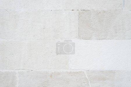 Photo pour Texture du mur de la vieille maison. Maçonnerie de brique blanche. Fond beige pour le design - image libre de droit