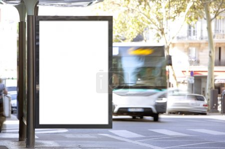 Photo for View of a Mock up of an Outdoor Billboard Advertisement - Royalty Free Image