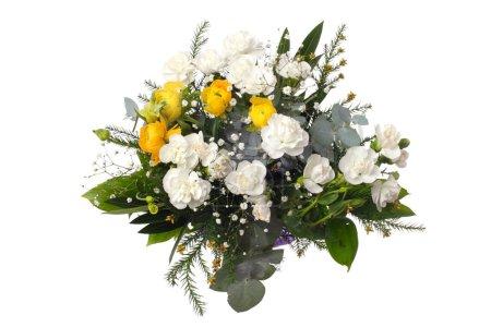 Photo pour Bouquet de fleurs sur fond blanc. Isolé . - image libre de droit