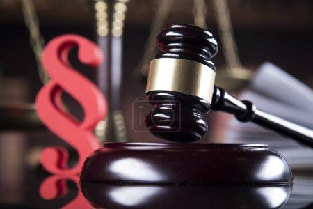 Photo pour Livre, Gavel, Mallet of justice concept - image libre de droit