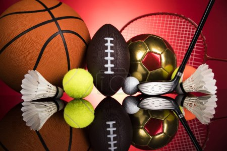 Photo for Sport equipment and balls - Royalty Free Image
