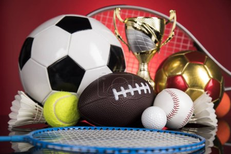 Photo for Balls, Sports Equipment, Winner background - Royalty Free Image