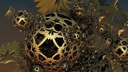 Photo pour Fond abstrait, structures 3D fantastiques, fond fictif de science-fiction . - image libre de droit