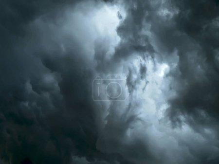 dark cloud sky, storm and dramatic