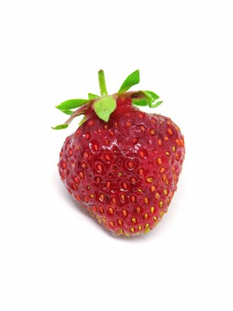 red fresh strawberry isolated on white