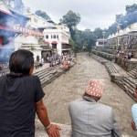 KATHMANDU, NEPAL - JULY 12, 2018: Temple crematori...