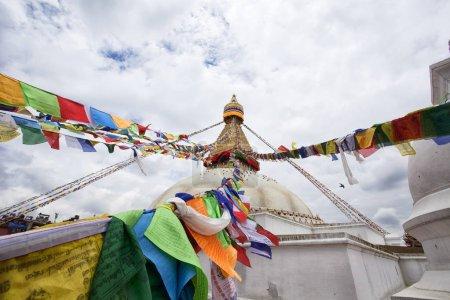 Boudha Stupa in Boudhanath, Kathmandu, Nepal. Unesco World Heritage Site