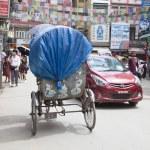 KATHMANDU, NEPAL - JULY 17, 2018: Street in the Th...