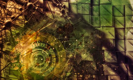 Photo for 3D rendering of abstract technology concept - Royalty Free Image