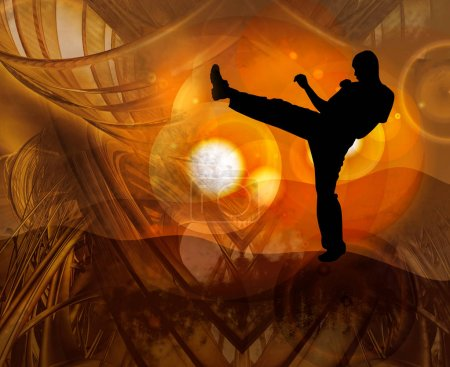 Young male karate warrior