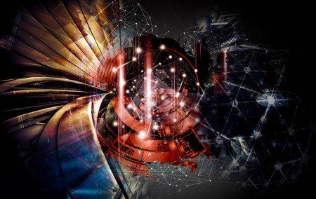 Photo pour Représentation 3D du concept de technologie abstraite - Illustration - image libre de droit