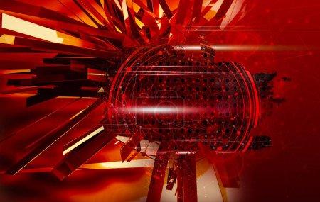 Photo pour Rendu 3D du concept de technologie abstraite - Illustration - image libre de droit