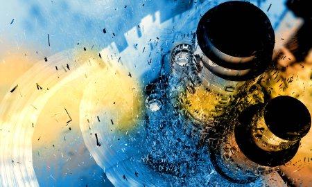 Photo pour 3d rendu du concept de technologie abstraite - image libre de droit