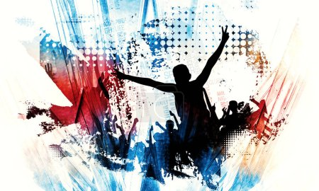 Photo for Silhouette of a party crowd - Illustration - Royalty Free Image