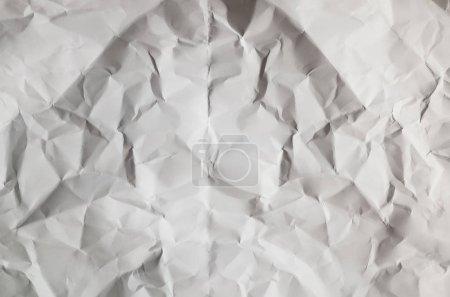 Photo pour Fond texture blanche avec papier froissé - image libre de droit