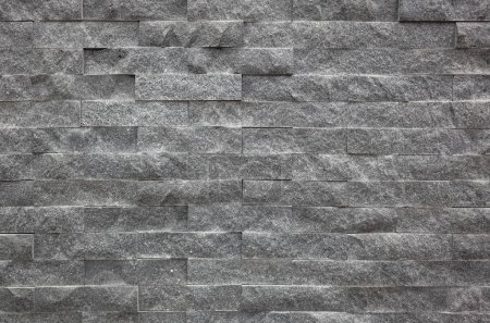 Photo for Gray brick wall with rough texture background - Royalty Free Image
