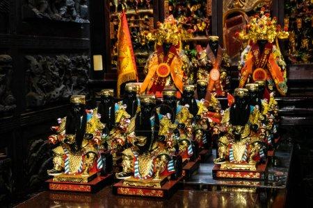 Photo pour Taichung, Taiwan - 20 avril 2020 : célèbre temple guangtien le temple fondateur du dieu de la richesse, Taichung, Taiwan, Asie - image libre de droit