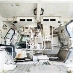 Abandoned rusty tank interior....