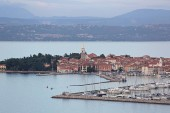 Seaside Town and Port for Yachts in Izola Istria Peninsula Slovenia
