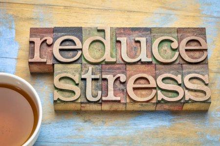 Reduzieren Sie Stress Erinnerung in Holz-Typ