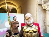 2018, JUNE 17 - CASALE MONFERRATO, ITALY: People in mask for event Casale Comics & Games 2018 in Casale Castle