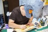 2018, JUNE 17 - CASALE MONFERRATO, ITALY: drawers working in event Casale Comics & Games 2018 in Casale Castle