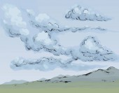 Clouds Vector drawing