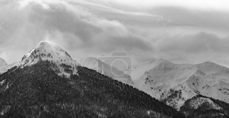 Photo for Mountain landscape. Snow covered mountain. - Royalty Free Image