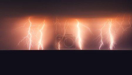 Foto de Tormenta eléctrica sobre el mar negro. - Imagen libre de derechos