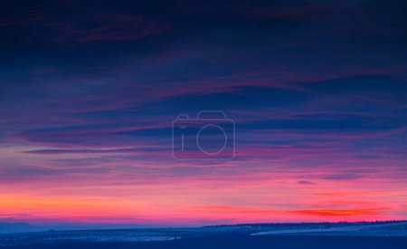 Photo for Sunset dramatic sky clouds. - Royalty Free Image