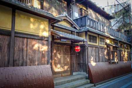 Photo for Traditional japanese houses in the Gion district, Kyoto, Japan - Royalty Free Image