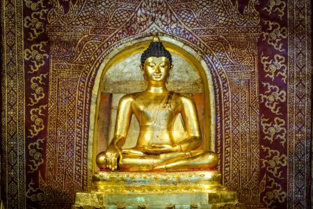 Photo for Gold Buddha statue in Wat Phra Singh temple, Chiang Mai, Thailand - Royalty Free Image