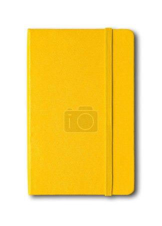 Photo pour Modèle de carnet fermé jaune isolé sur blanc - image libre de droit
