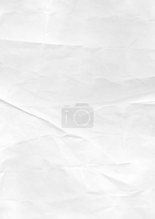 Photo for White crumpled paper texture background. Vintage wallpaper - Royalty Free Image
