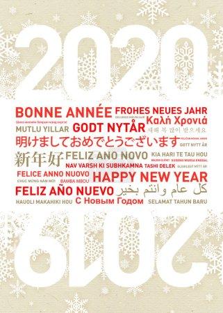 Photo pour Bonne année carte dans différentes langues du monde - image libre de droit