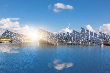 Photo pour Production électrique future, shanghai Chine . - image libre de droit