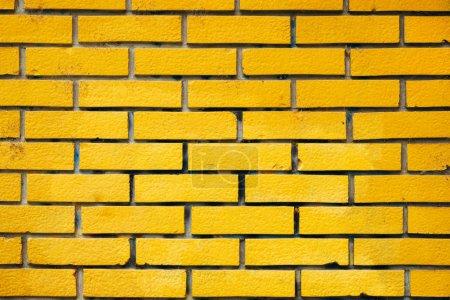 Photo pour Arrière-plans et textures urbains, motif briques jaunes - image libre de droit